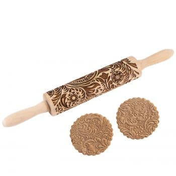 Evermarket Wooden Rolling Pin for Kids &Adults