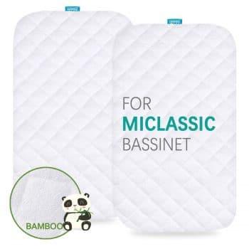 Biloban Waterproof Bassinet Mattress Pad Cover