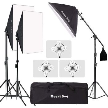MOUNTDOG Professional Softbox Lighting Kit