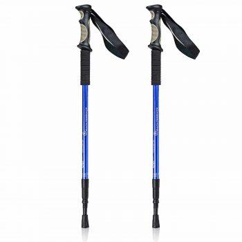 Bafx Products 1 Pair Adjustable Anti Shock Aluminum Hiking Poles for Trekking and Walking