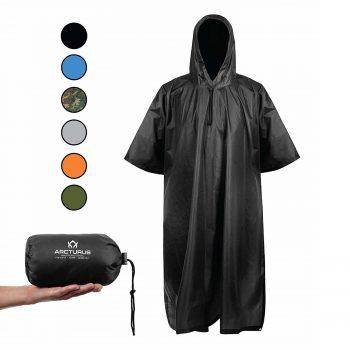 Arcturus Lightweight Rain Ponchos with Adjustable Hood Waterproof Jacket for Men and Women
