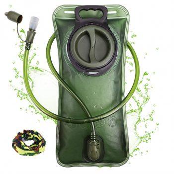 CHERAINTI Hydration Bladder Military Water Storage 2 Liter Water Reservoir for Hiking Running