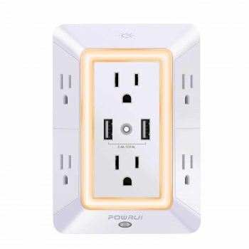 Two POWRUI 6-Outlets Extender