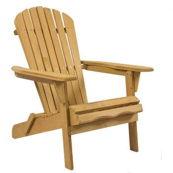 Folding Wood Adirondack Lounger Chair