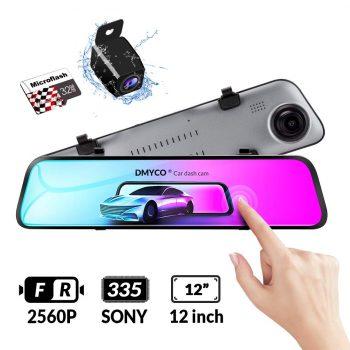 DMYCO Backup Camera Car Mirror Dash Cam