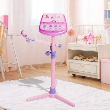 HANMUN Kids Karaoke Machine w/Microphone Stand