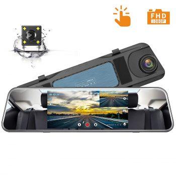 Campark Backup Camera 1080P Mirror Dash Cam