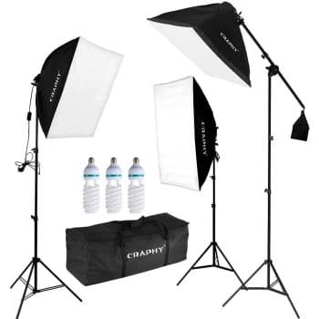 CRAPHY Soft Box Photo Studio Kit