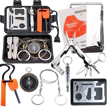 EMDMAK Survival Kit Travelling Camping Outdoor Emergency Gear Kit