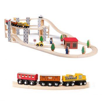 SainSmart Jr. 50 PCS Wooden Train Set