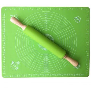 Usparkle Rolling Pin with Pastry Mat for Rolling Dough