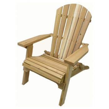Kilmer Creek Folding Natural Cedar Adirondack Chair