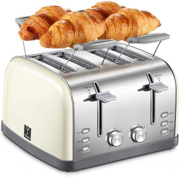 4 Slice Toaster, Retro Bagel Toaster