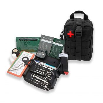 AsaTechmed Premium First Aid Combat Survival Kit for Camping Hiking Outdoors