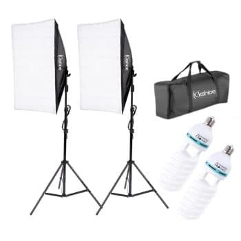 Kshioe Softbox Photography Lighting Kit