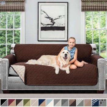 Sofa Shield Original Patent Pending Reversible Large Sofa Protector