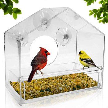 Natural Gear Window Bird Feeder