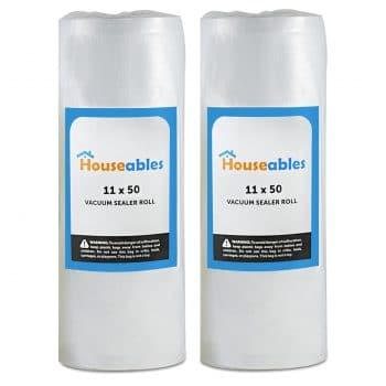 Houseables Vacuum Sealer Rolls Sous Vide Bags  [
