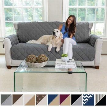 MIGHTY MONKEY Premium Reversible Large Sofa Protector