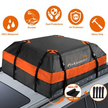 FIVKLEMNZ Car Roof Bag 15 Cubic Feet Cargo Carrier Suitable for All Vehicle