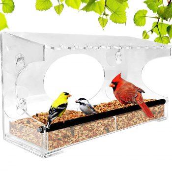 Natural Gear XL Window Bird Feeder