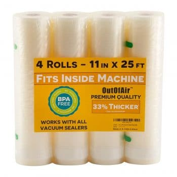 OutOfAir 11 x 25-Inches 4 Pack Vacuum Seal Rolls  [