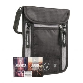 Vantamo Travel Pouch RFID Protected Neck Wallet