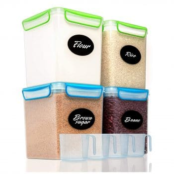 4 Large Airtight Food Storage Containers