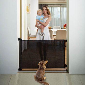 EasyBaby Products Indoor Outdoor Retractable Baby Gate,
