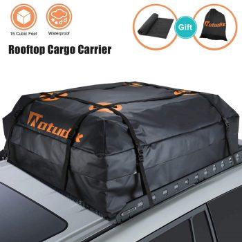 Natudix Waterproof Car Rooftop Bag 15 Cubic Feet Cargo Carrier Bag