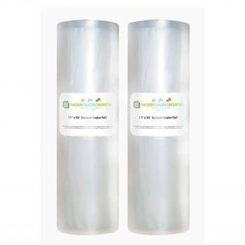 Vacuum Sealers Unlimited 2 Pack Vacuum Seal Rolls 11 x 50-Inches Size