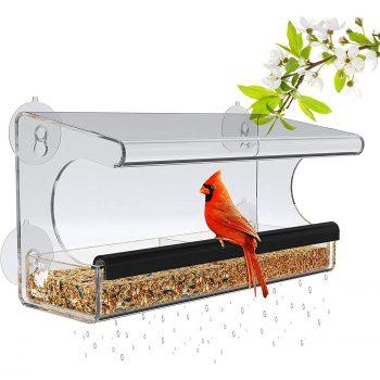 Window Bird Feeder for Outside Use