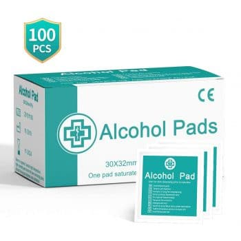 Essort 100 Pieces Alcohol Cotton Pads Wipes