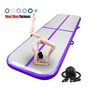 FBSPORT Inflatable Gymnastics Tumbling Mat