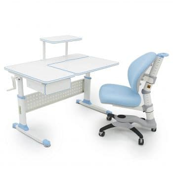 ApexDesk Little Soleil DX Desk wIntegrated Shelf & Drawer