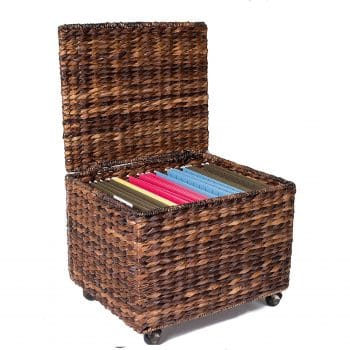 BIRDLOCK HOME Seagrass Rolling File Cabinet