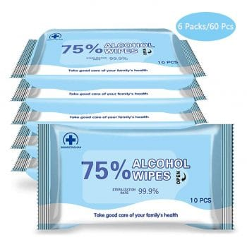TII Alcohol Detergent Wipes 6 Packs