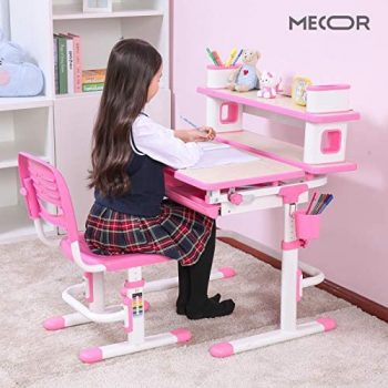 Mecor Kids Desk and Chair Set w Bookshelf