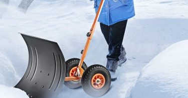 Snow Pusher with Wheels