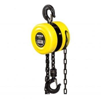 Neiko 02182A Chain Hoist w- Two Hooks, 15 Foot Lift