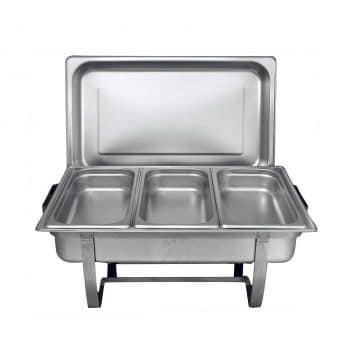 Tiger Chef 8 Quartz Full Size Stainless Steel Chafing Dish