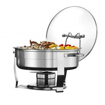 Kook Warmer Stainless Steel Chafing Dish with Glass Lid