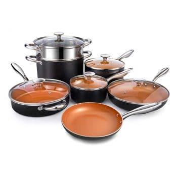 MICHELANGELO Copper Pots and Pans Set Nonstick 12 Piece