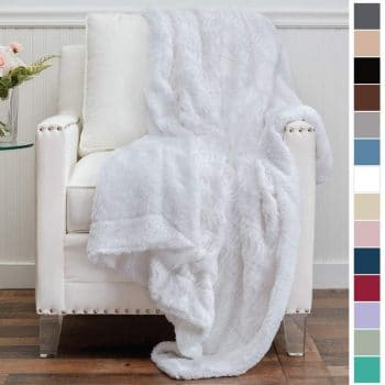 The Connecticut Home Company Faux Fur Throw Blanket