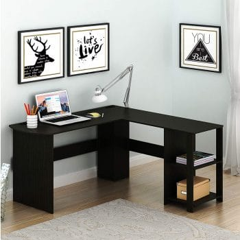 SHW L Shaped Home/Office Wood Corner-Desk