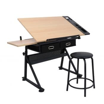 ZENY Height Adjustable Drafting Table Desk