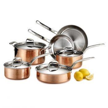 Lagostina Martellata Copper Cookware Set