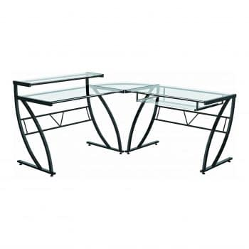 Z-Line Belaire designs Glass Computer Desk