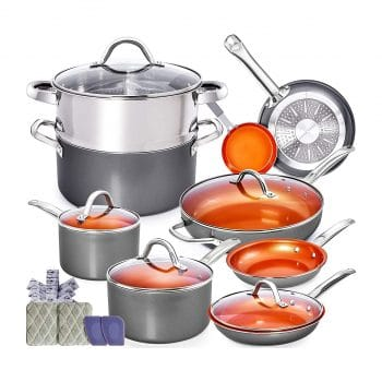 Home Hero Copper Pots and Pans Set Nonstick Cookware Set