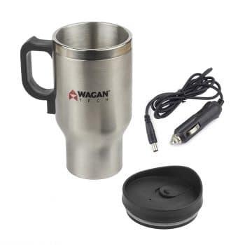 Wagan EL6100 12V Stainless Steel Heated Travel Mug